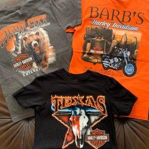 LOT of 3: Men's Harley Davidson T-Shirts (S)
